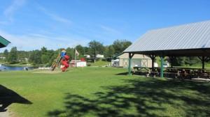 Pavilions and playground